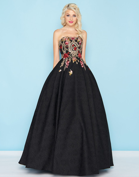 40815H (Black + Gold) Prom                                             dress by Mac Duggal : Ball Gowns