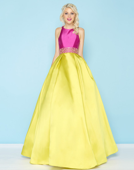 48581H (Orchid + Chartreuse) Prom                                             dress by Mac Duggal : Ball Gowns