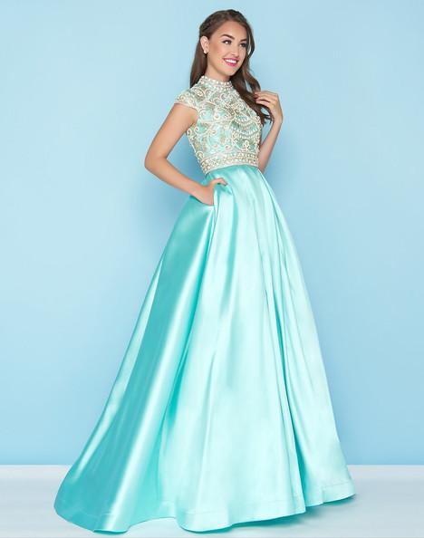 66302H (Aqua) Prom dress by Mac Duggal : Ball Gowns