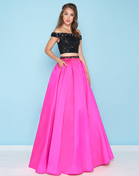 66316H (Hot Pink + Black) Prom                                             dress by Mac Duggal : Ball Gowns
