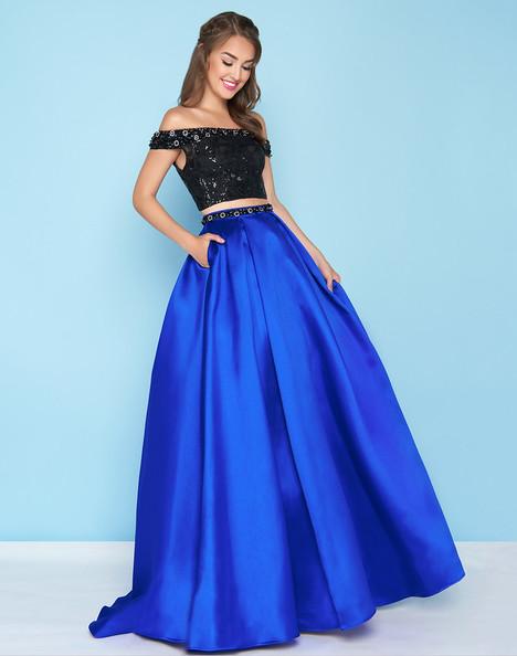 66316H (Royal + Black) Prom                                             dress by Mac Duggal : Ball Gowns