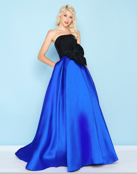 66318H (Black + Royal) Prom                                             dress by Mac Duggal : Ball Gowns