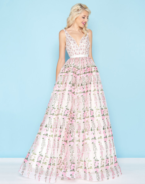 66319H (Pink Floral) Prom                                             dress by Mac Duggal : Ball Gowns