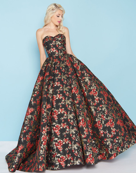 66555H (Red + Black) Prom dress by Mac Duggal : Ball Gowns
