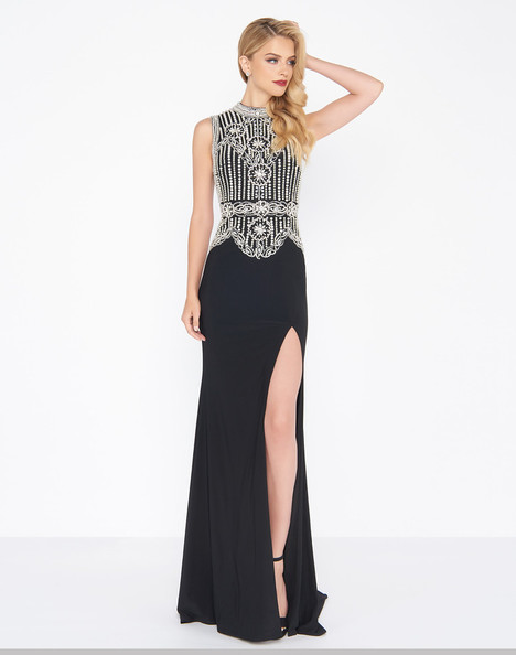 12026R (Black) Prom                                             dress by Mac Duggal : Black White Red