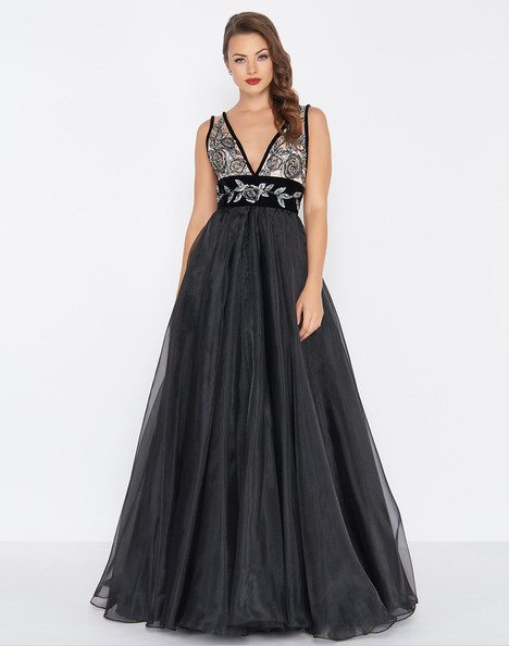 2035R (Noir) Prom                                             dress by Mac Duggal : Black White Red