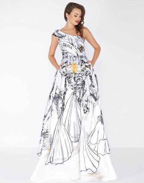 30371R (Ivory Multi) Prom                                             dress by Mac Duggal : Black White Red