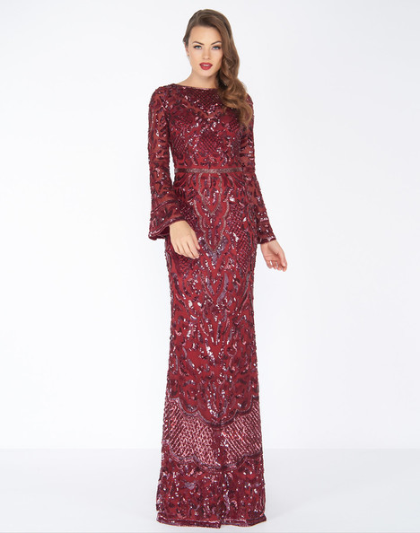 4576R (Burgundy) Prom                                             dress by Mac Duggal : Black White Red