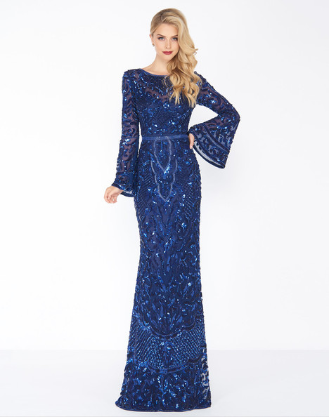 4576R (Midnight) Prom                                             dress by Mac Duggal : Black White Red