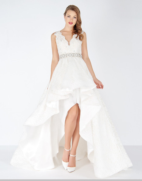 48470R (Ivory) Prom                                             dress by Mac Duggal : Black White Red