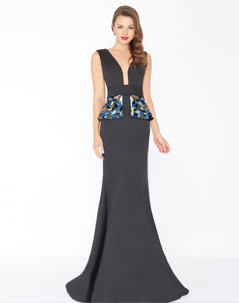 48712R (Black) Prom                                             dress by Mac Duggal : Black White Red