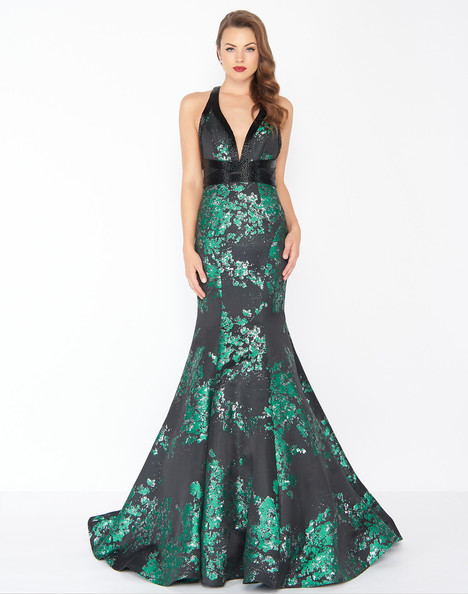 48727R (Metallica Green) Prom                                             dress by Mac Duggal : Black White Red