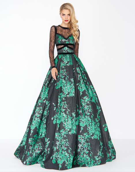 48730R (Metallica Green) Prom                                             dress by Mac Duggal : Black White Red