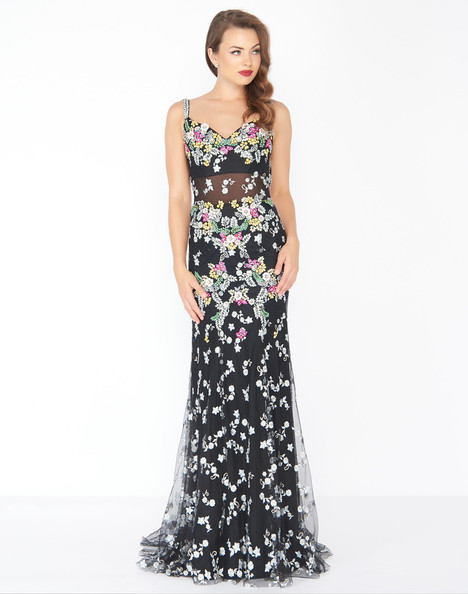 50386R (Black) Prom                                             dress by Mac Duggal : Black White Red