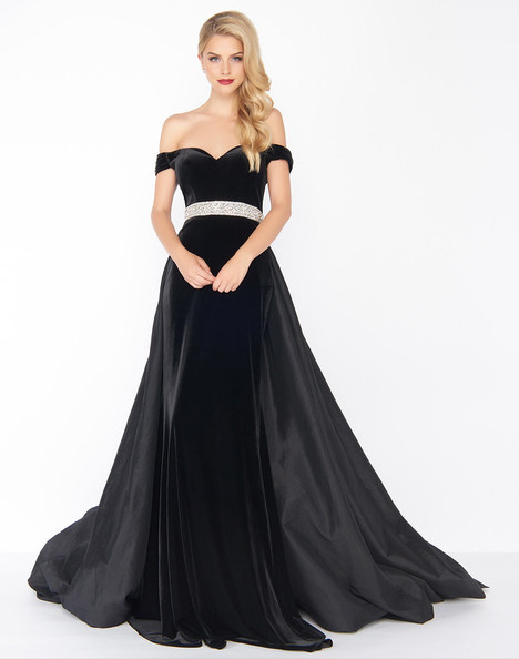 62767R (Black) Prom                                             dress by Mac Duggal : Black White Red