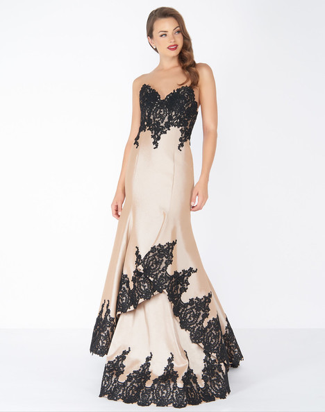 62819R (Nude) Prom                                             dress by Mac Duggal : Black White Red