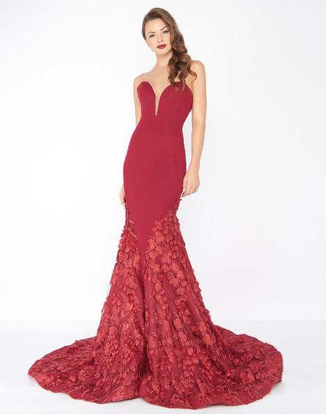 66218R (Deep Red) Prom                                             dress by Mac Duggal : Black White Red