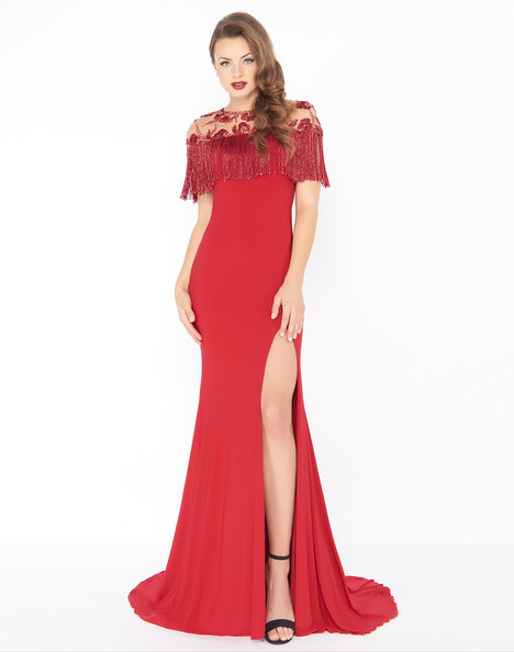 79168R (Red) Prom                                             dress by Mac Duggal : Black White Red