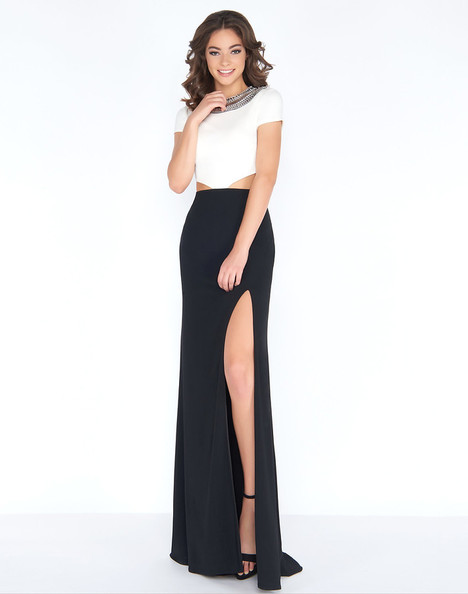 12033A (Black + White) Prom                                             dress by Cassandra Stone