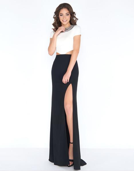 12033A (Black + White) Prom                                             dress by Cassandra Stone