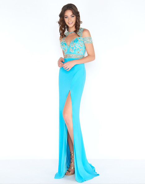 2034A (Turquoise) Prom                                             dress by Cassandra Stone