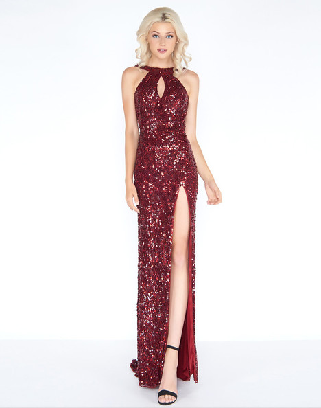 3434A (Burgundy) Prom                                             dress by Cassandra Stone