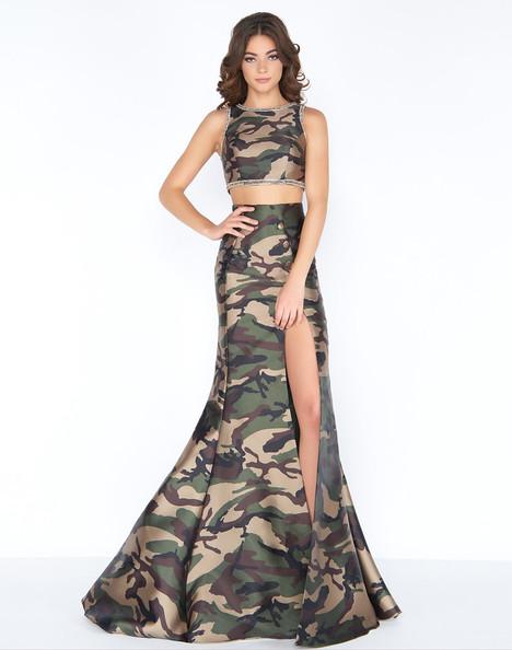 40814A (Camo) Prom dress by Cassandra Stone