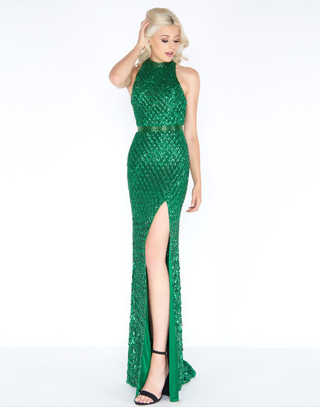 4556A (Emerald) Prom                                             dress by Cassandra Stone