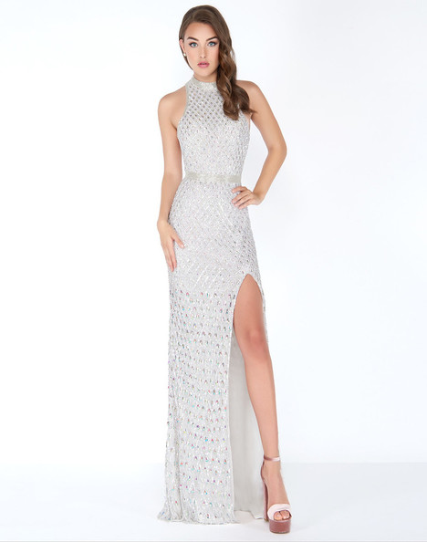 4556A (Silver) Prom dress by Cassandra Stone