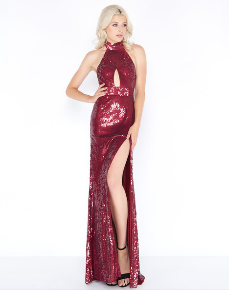4658A (Burgundy) Prom                                             dress by Cassandra Stone