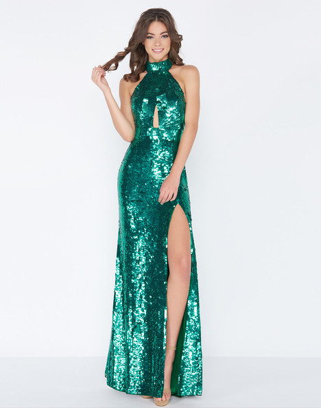 4658A (Emerald) Prom                                             dress by Cassandra Stone
