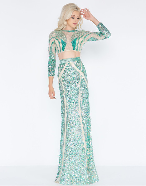 4660A (Green Genie) Prom                                             dress by Cassandra Stone