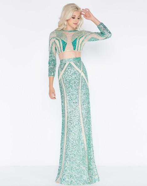 4660A (Green Genie) Prom                                             dress by Cassandra Stone