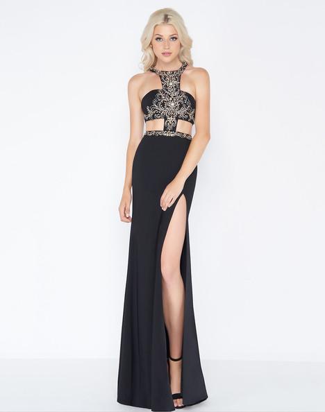 50415A (Black + Gold) Prom                                             dress by Cassandra Stone