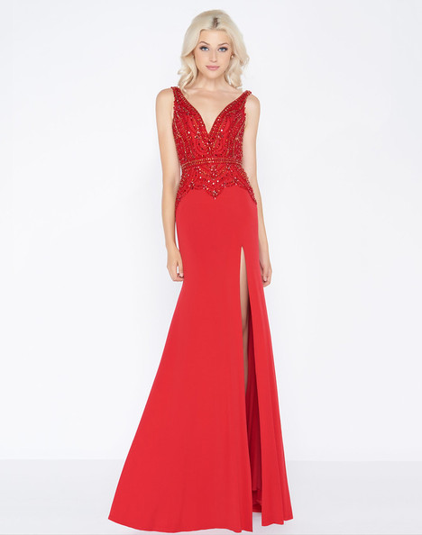 50484A (Red) Prom                                             dress by Cassandra Stone