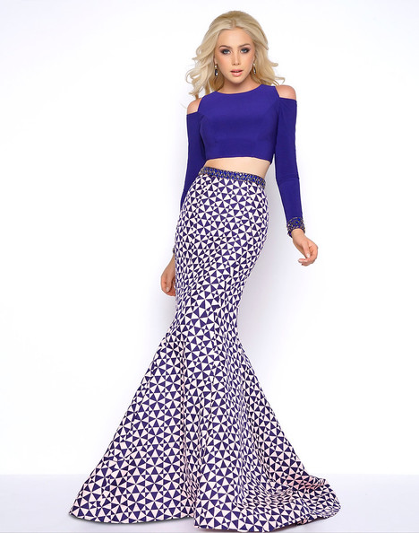 65906A (Indigo + Blush) Prom                                             dress by Cassandra Stone