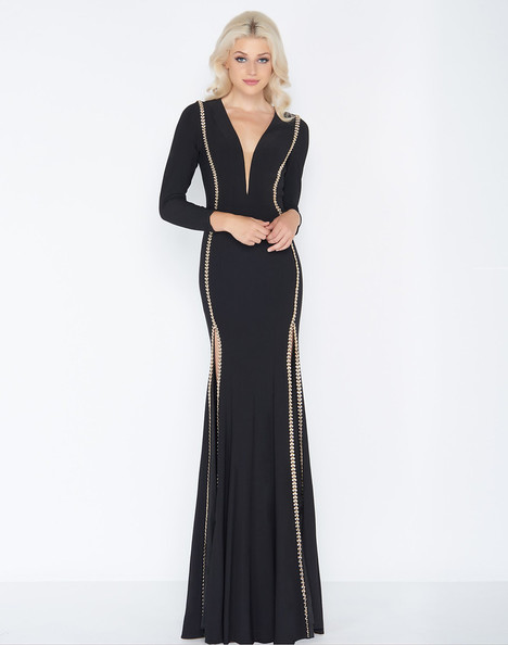 79186A (Black + Gold) Prom dress by Cassandra Stone