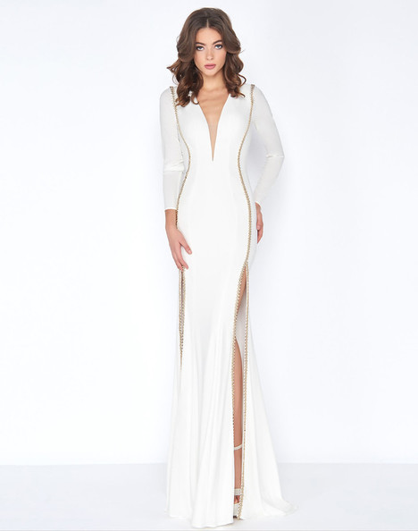79186A (Ivory + Gold) Prom dress by Cassandra Stone