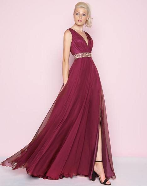 66568L (Burgundy + Gold) Prom dress by Mac Duggal : Flash