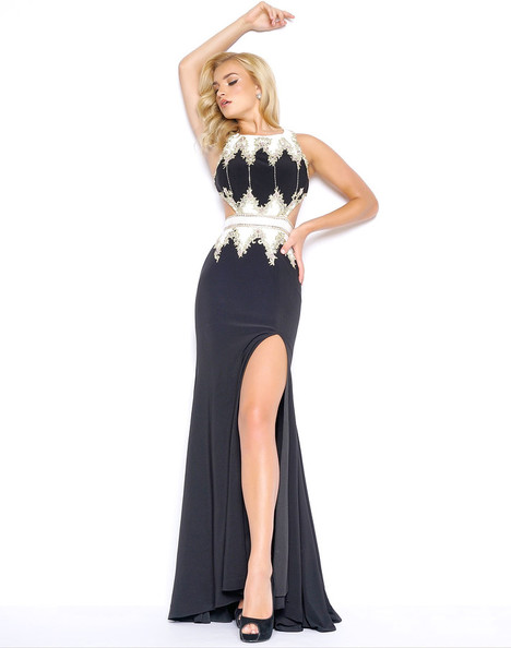 40626M (Black + White) Prom                                             dress by Mac Duggal Prom