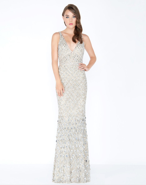 4551M (Platinum) Prom                                             dress by Mac Duggal Prom