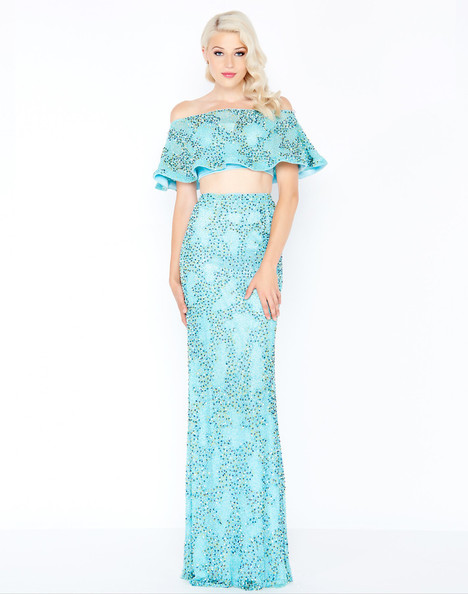 4620M (Blue Lagoon) Prom                                             dress by Mac Duggal Prom