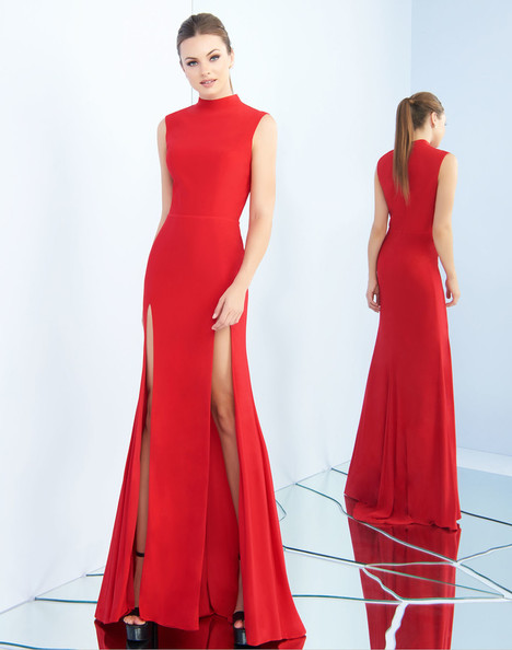 25034i (Red) Prom                                             dress by Ieena Duggal