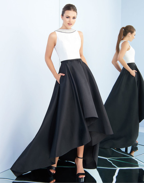 25215i (Black + White) Prom                                             dress by Ieena Duggal