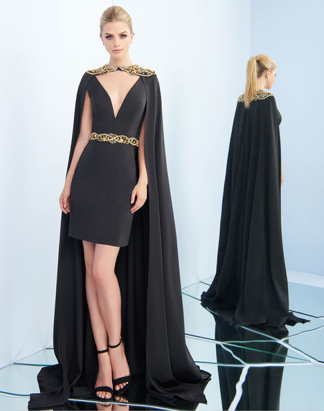 25498i (Black + Gold) Prom                                             dress by Ieena Duggal