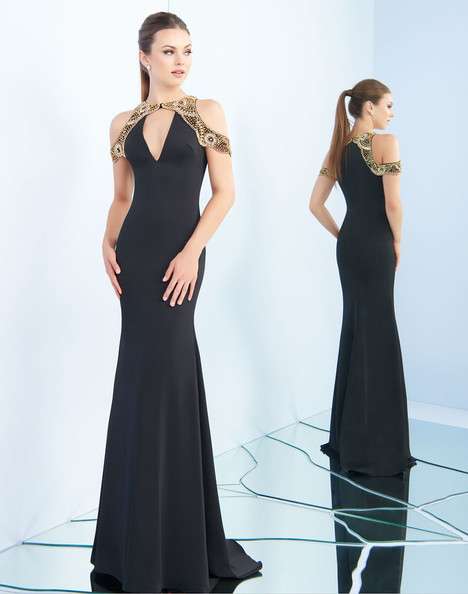 25564i (Black + Gold) Prom                                             dress by Ieena Duggal