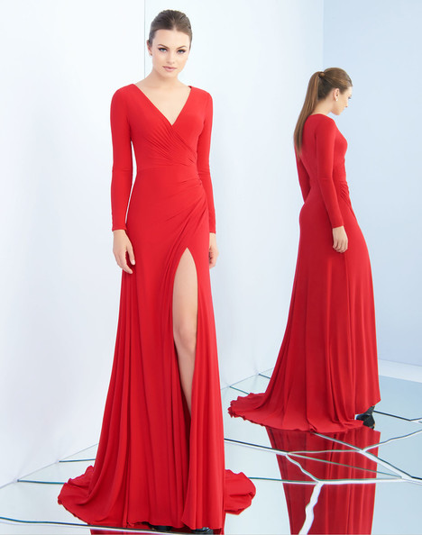 25685i (Deep Red) Prom                                             dress by Ieena Duggal