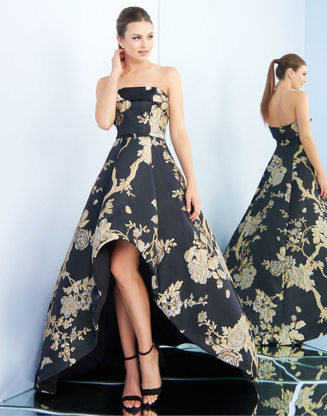 25723i (Black + Gold) Prom dress by Ieena Duggal