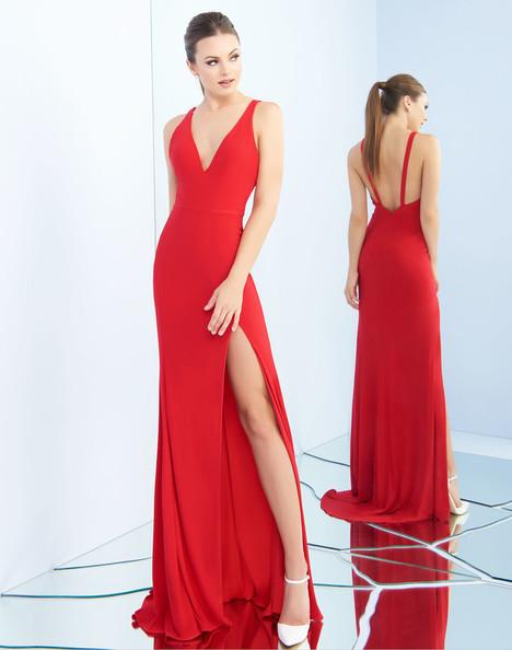 25846i (Red) Prom                                             dress by Ieena Duggal
