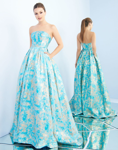 8878i (Ocean Gold) Prom dress by Ieena Duggal